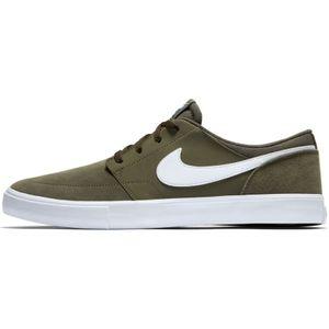 Nike SB Portmore II Solar Sneaker Skateschuh oliv weiß – Bild 2