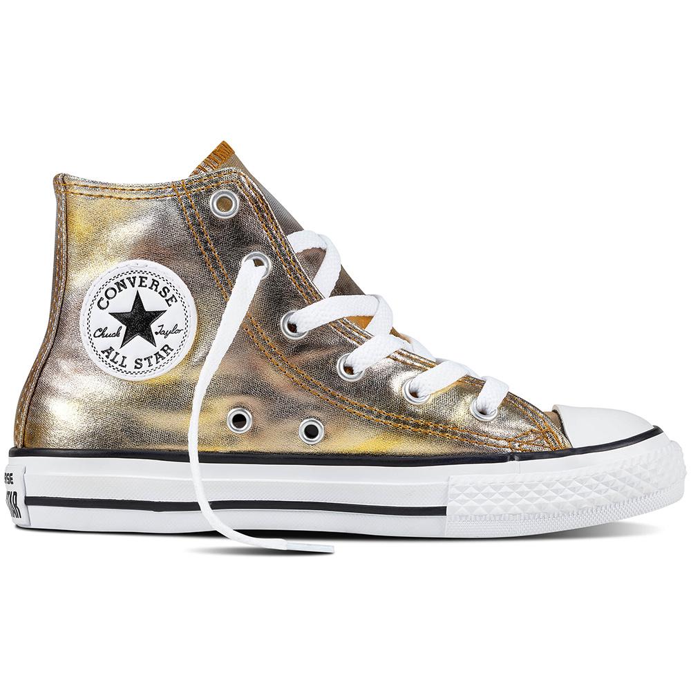 Converse CT AS Hi Chuck Taylor All Star Kinder metallic gold